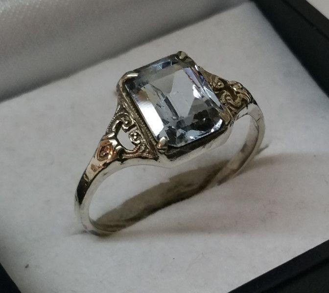 vintage halsschmuck jugendstil ring silber 835 aquamarin antik sr572 ein ringe silber. Black Bedroom Furniture Sets. Home Design Ideas