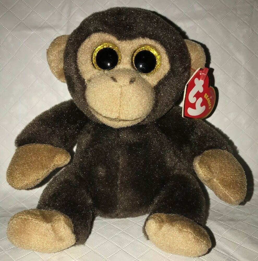 TY BANANAS the Brown Big Eyed MONKEY BEANIE BABY Beanies