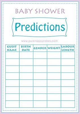 Exceptional Baby Shower Multiple Games Pack Including BINGO, Ice Breakers   Baby  Predictions U0026 Who Knows