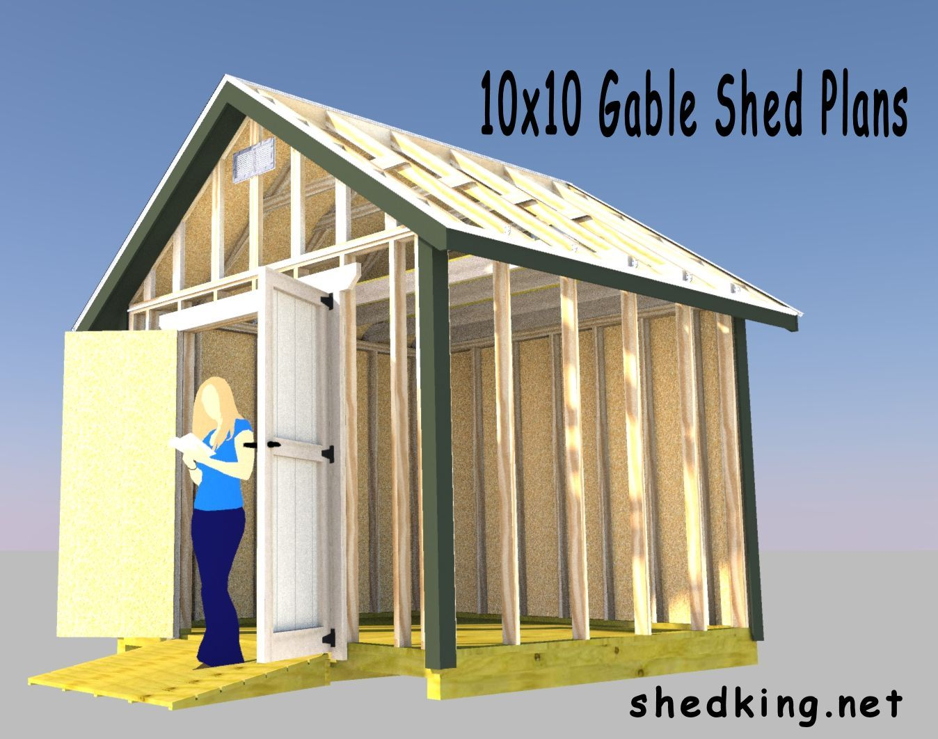 Backyard Storage Shed 10x10 Gable Shed Plans Small Shed Plans Shed Plans Backyard Storage Sheds