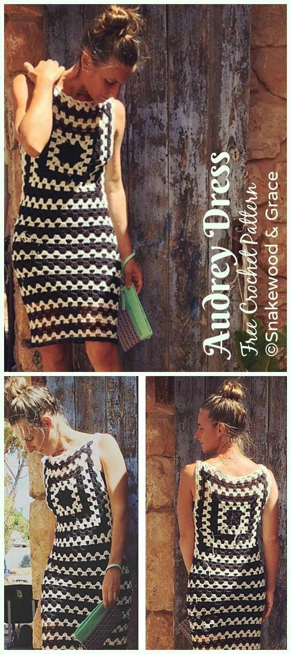 Audrey Dress Crochet Free Pattern – Women Summer #Dress; Free Crochet Patterns  … – Örgü