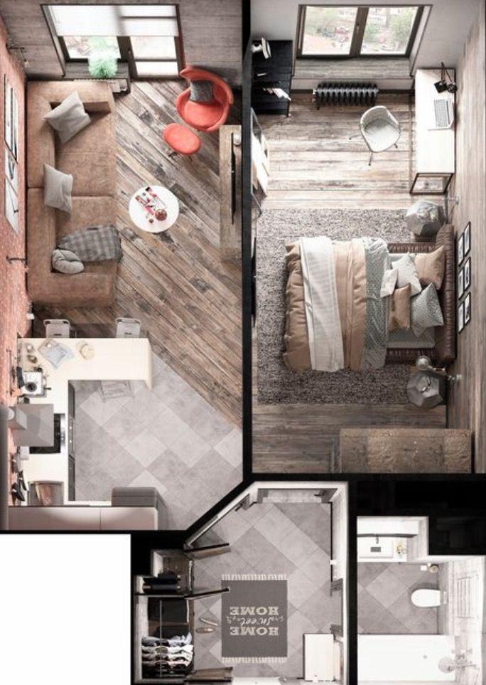 Apartamento room stuff pinterest planos casas y for Maquetas de apartamentos modernos