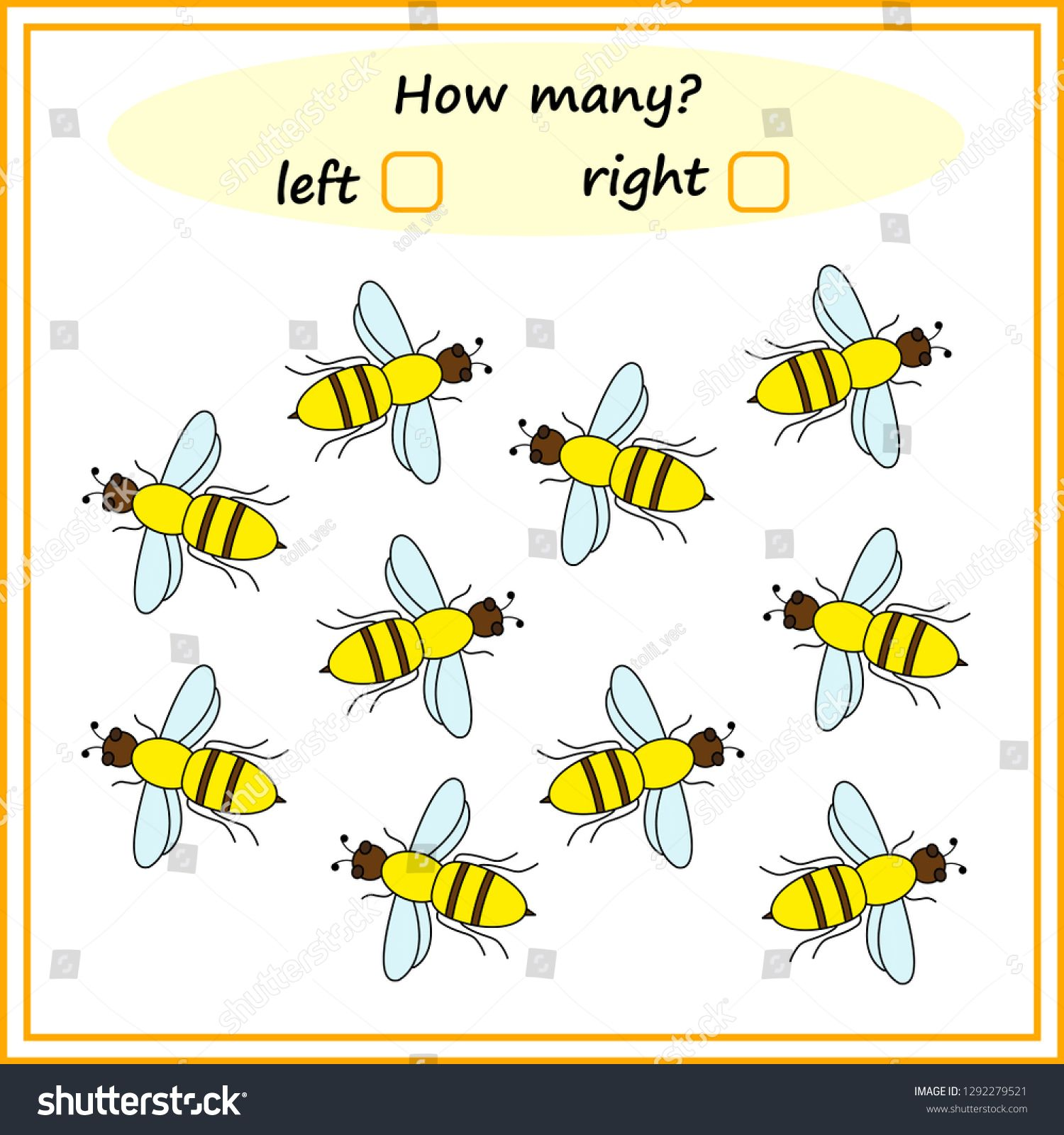 Worksheet How Many Left And Right Educational Game For