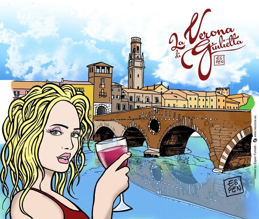 #verona #fumetto #gialloblu #hellas #disegnatore #illustratore #veronese #arena #pontepietra #lamiacittá #comics #verona #giulietta #romeogiulietta #laveronadigiulietta #espen #disegni #comics #logo #marchio #grafico #designer #immagini #espenfumetti #espen #neurone.Es