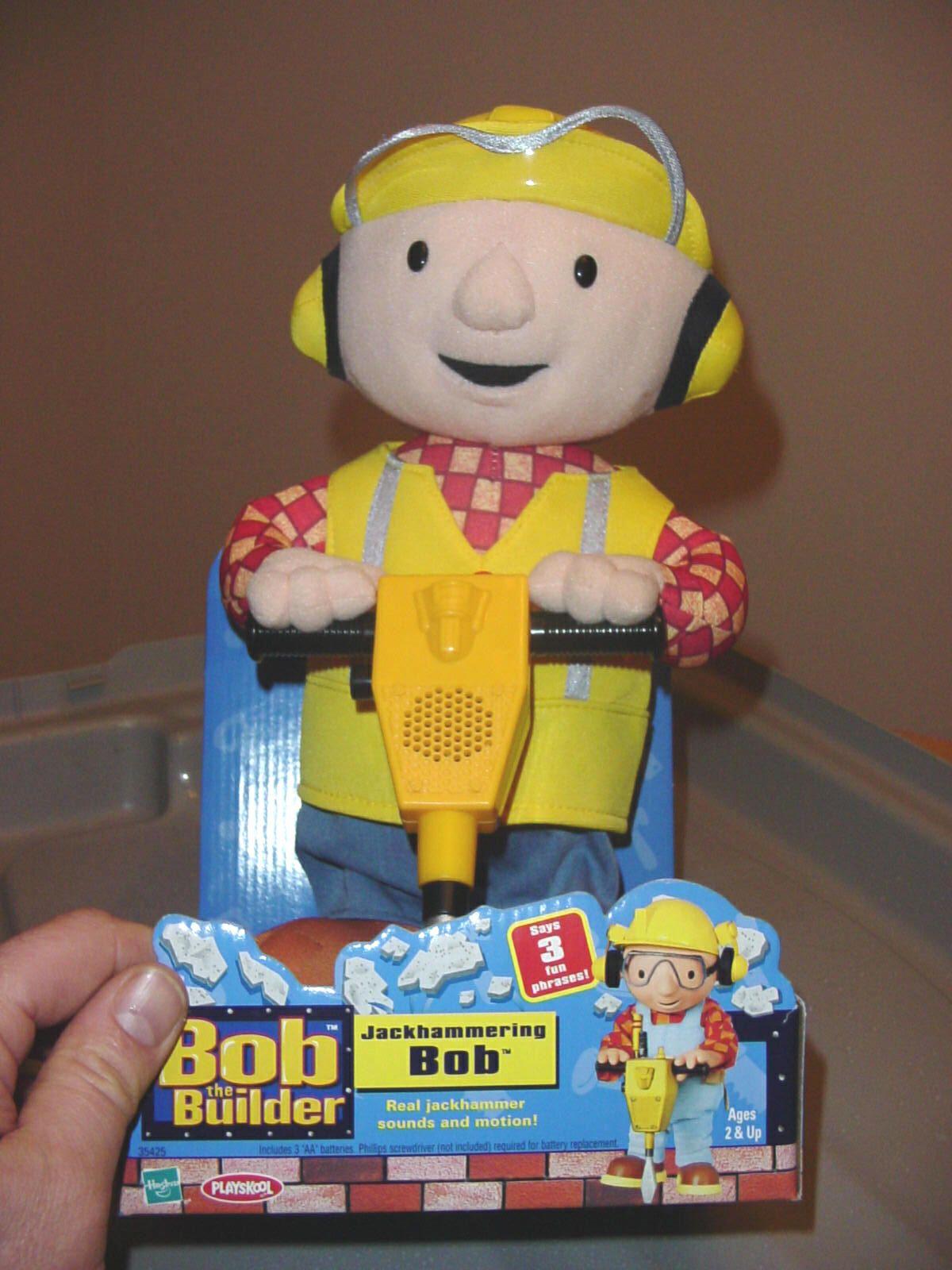 Playskool Bob The Builder Talking Jackhammering Bob Talks New In