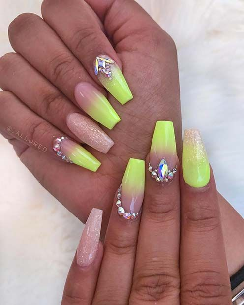 43 Neon Nail Designs That Are Perfect For Summer Page 2 Of 4 Stayglam Neon Nail Designs Neon Nails Green Nails