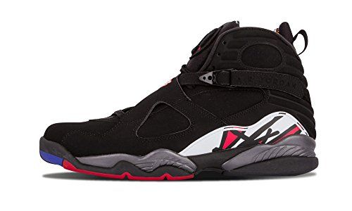 new style 99009 f75dd Nike Mens Air Jordan 8 Retro Playoff BlackVarsity Red Leather Basketball Shoes  Size 95    You can get more details by clicking on the image.
