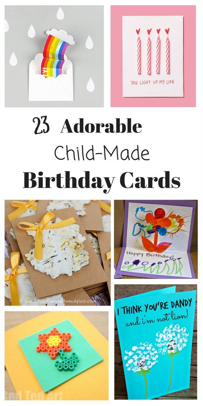 Homemade Birthday Cards For Kids To Create Kids Birthday Cards