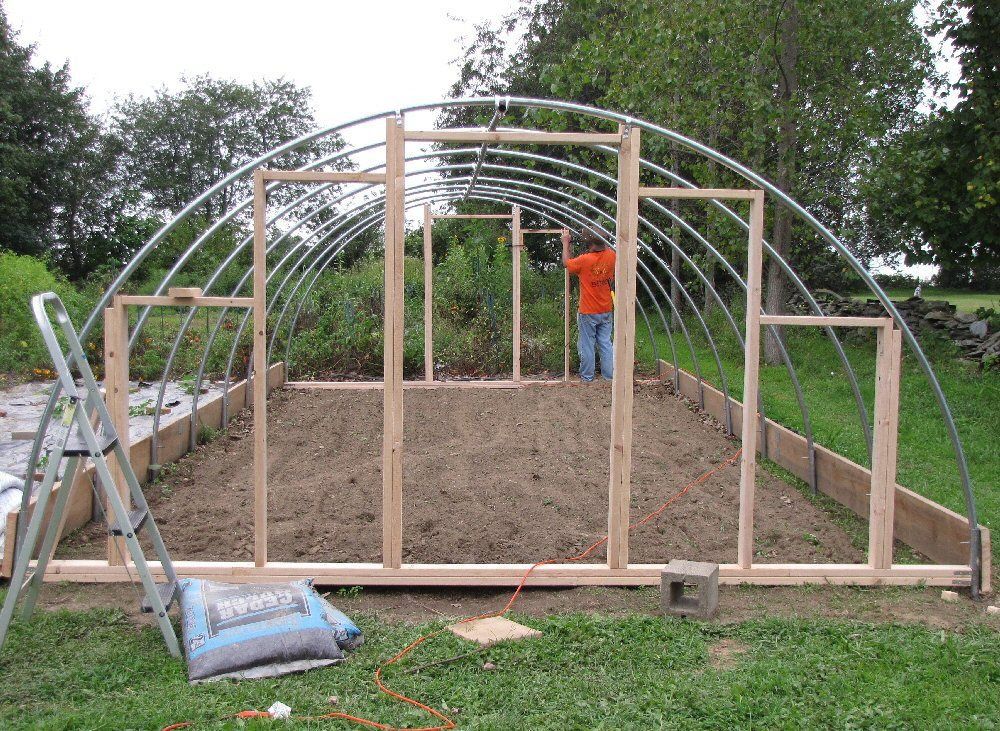 Hoop house pvc construction ideas