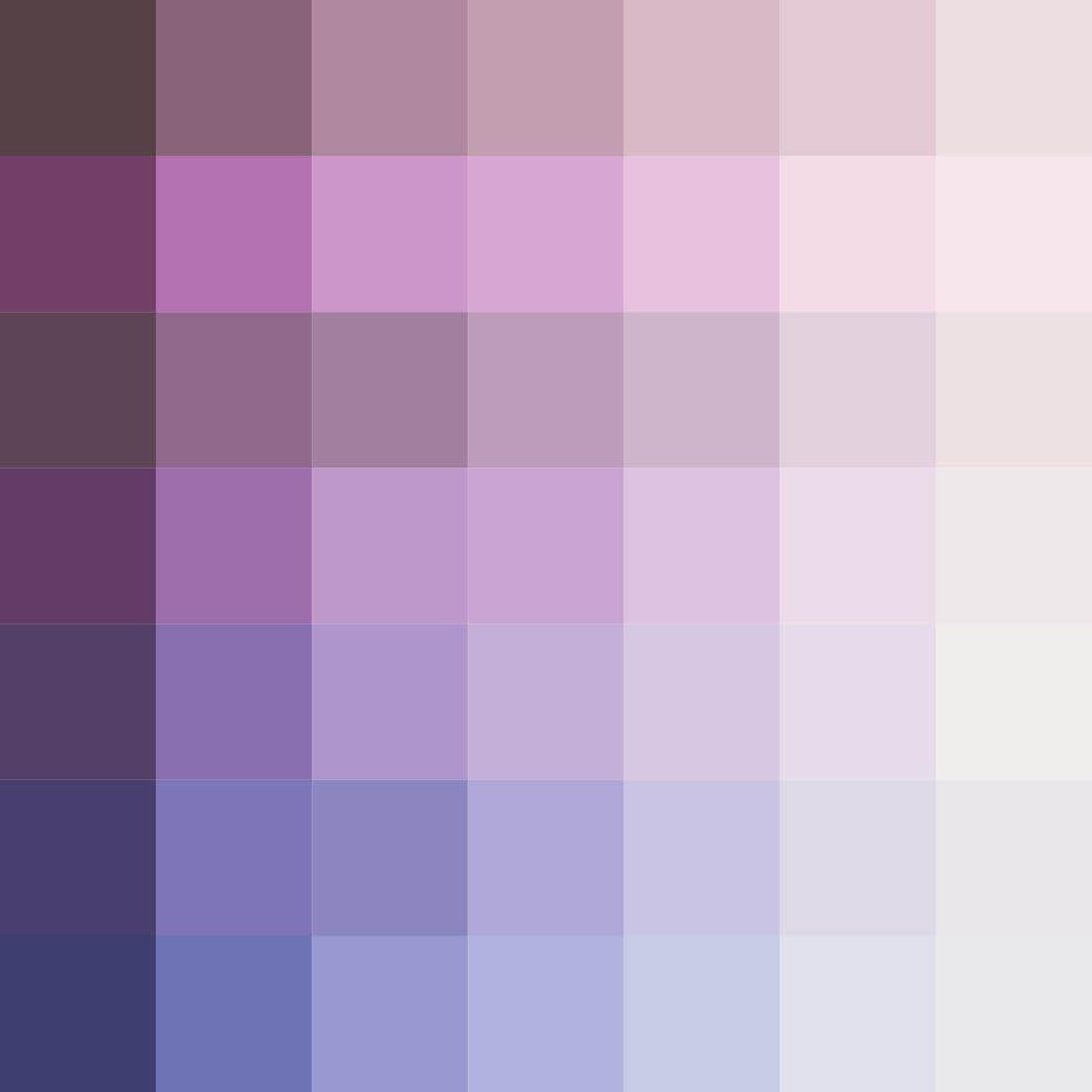 Mauvilac industries nuancier violets pourpres - Nuance de couleur peinture ...