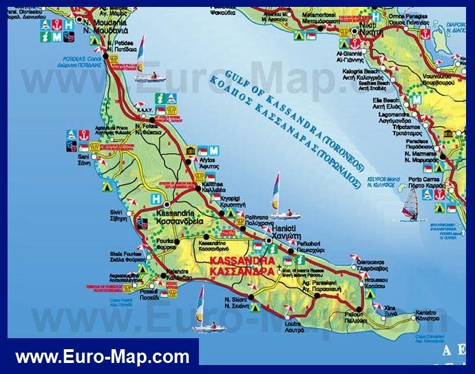 euromapcom kartygrecii kassandra turisticheskayakartakassandry