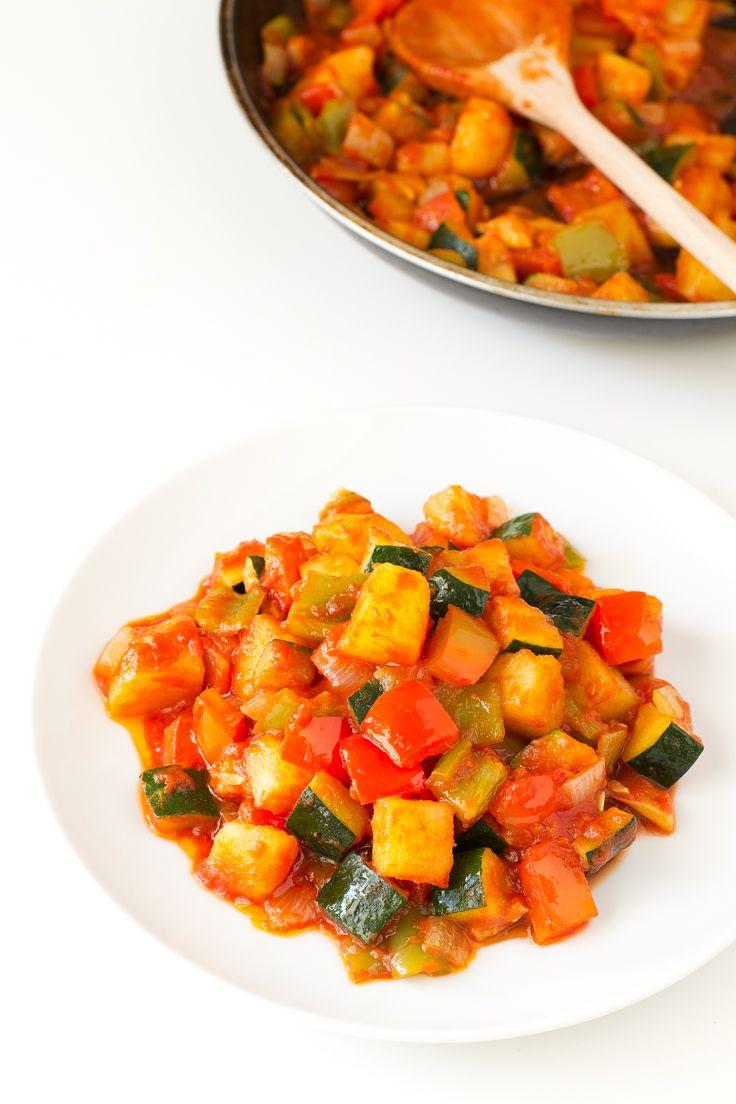 Spanish Pisto Recipe Vegetarian Vegan Recipes Pisto Recipes
