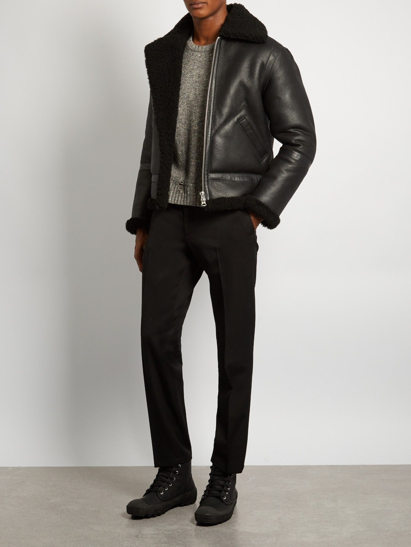 bd5772ae9f3 ACNE STUDIOS Ian shearling jacket €2,200 | MODE POUR HOMMES ...