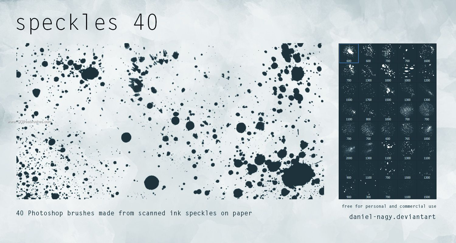Speckled Paint - Download  Photoshop brush http://www.123freebrushes.com/speckled-paint/ , Published in #GrungeSplatter. More Free Grunge & Splatter Brushes, http://www.123freebrushes.com/free-brushes/grunge-splatter/ | #123freebrushes