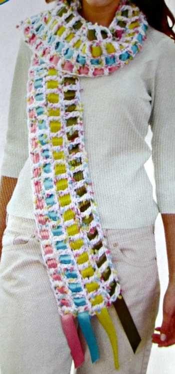 bufanda tejida a crochet | Fiestas kyrna benja | Pinterest