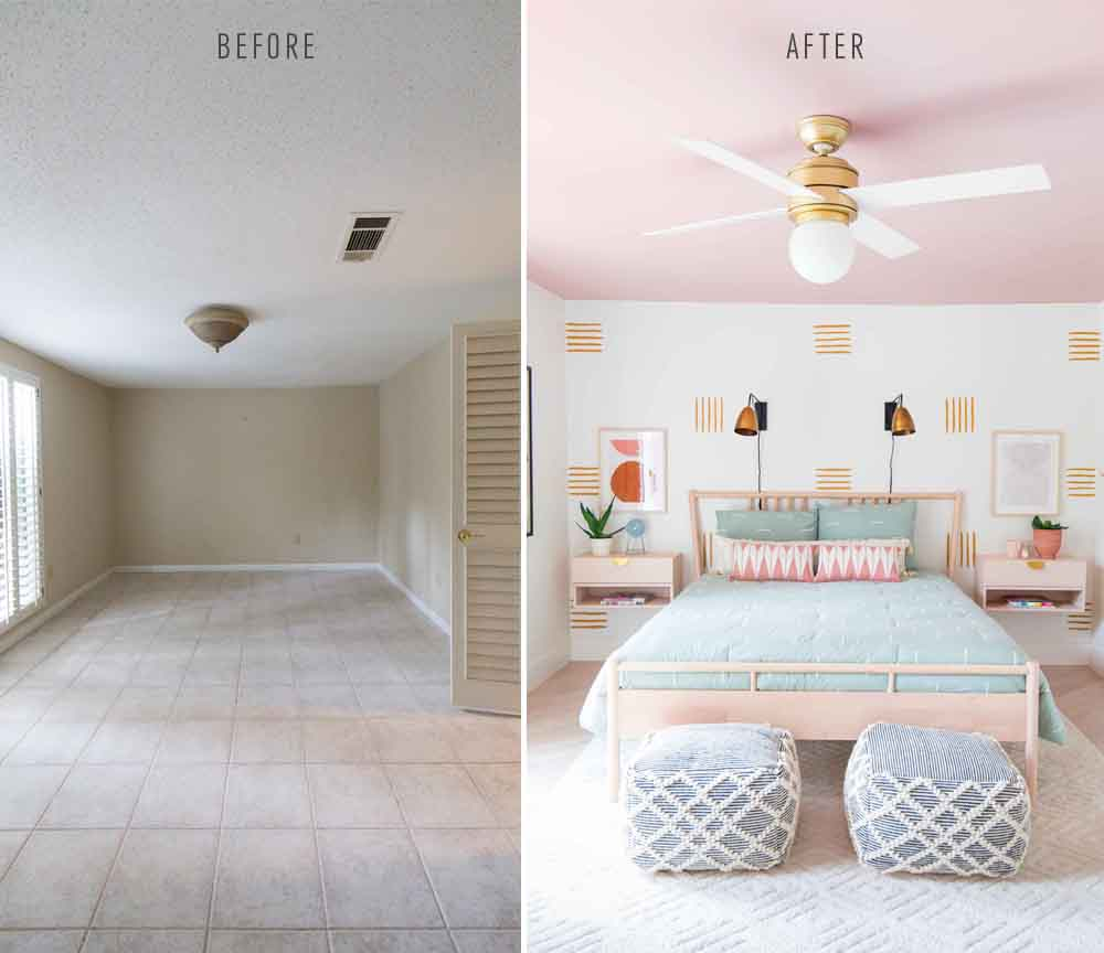 How To Paint an Accent Wall + Guest Bedroom Makeover ...