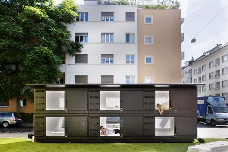 Mini Capsule Hotel Was Not Designed As A Solution For Homeless Housing But It Could Be Adapted For Such A Use Atelier Va Capsule Hotel Homeless Housing Hotel