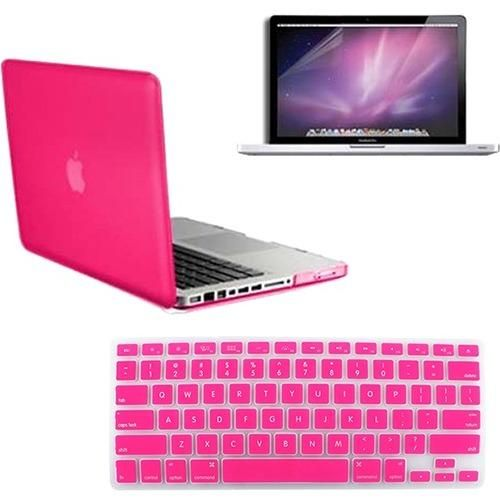"""Key 3in1 PURPLE Rubberized Case for Macbook Pro 13/"""" A1425 Retina display LCD"""