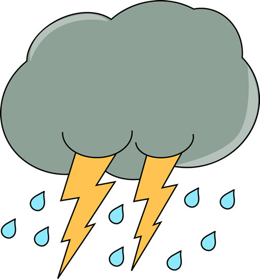 Dark Cloud With Rain And Lightning Clip Art Weather Clipart Clouds