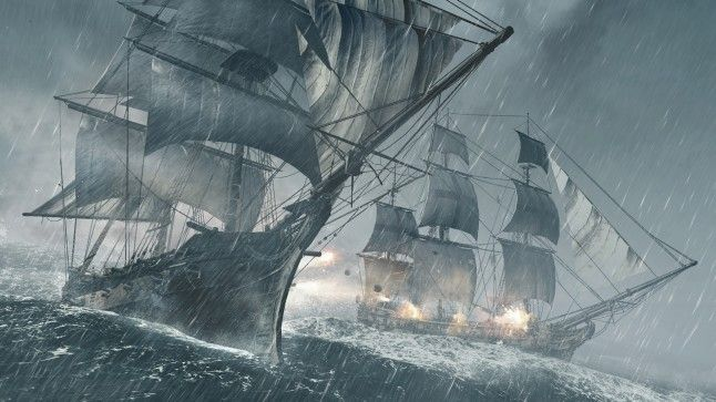 Assassins Creed 4 Pirate Ships Battle Wallpaper Arrrrrrrr