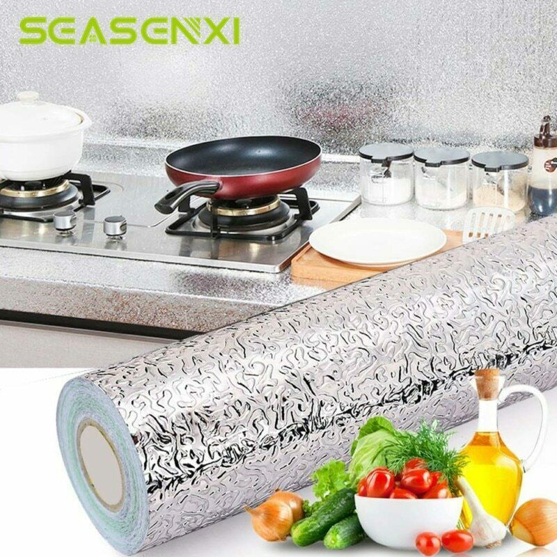 Kitchen Oil Proof Waterproof Sticker Stove Aluminum Foil Covers Self Adhesive Unbranded Waterproof Stickers Self Adhesive Wallpaper Aluminum Foil