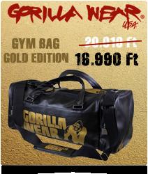 8030414d38a3 GORILLA WEAR GYM BAG GOLD EDITION