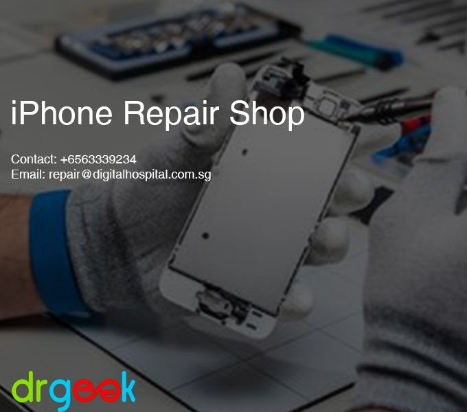 Repair cracked iPhone screen by Dr Geek. They perform