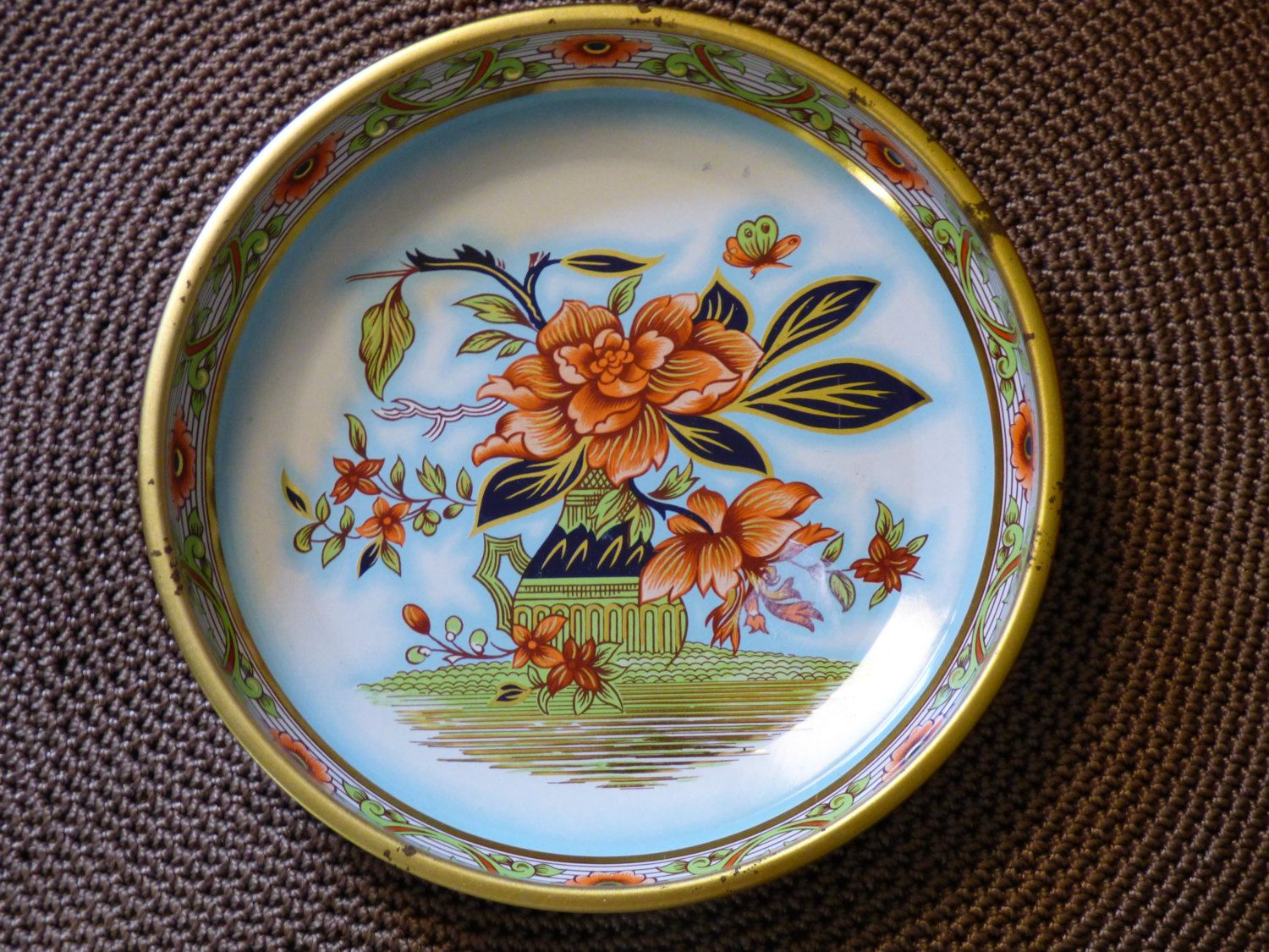 Daher Decorated Ware Tray Made In England Delectable Daher Decorated Ware  Long Island Ny Usa  Made In England Inspiration Design