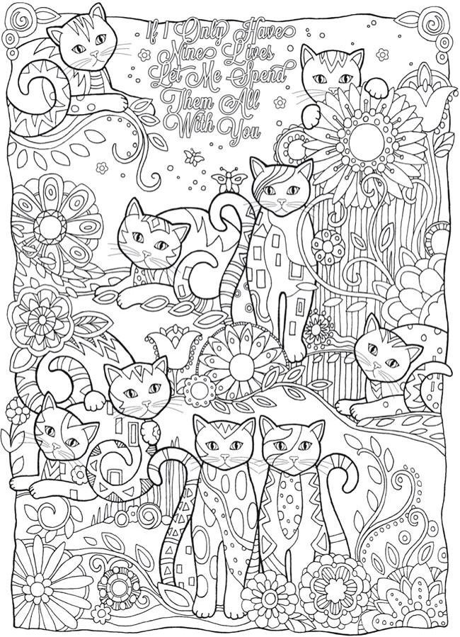 Creative Haven Cats Adult Coloring Book