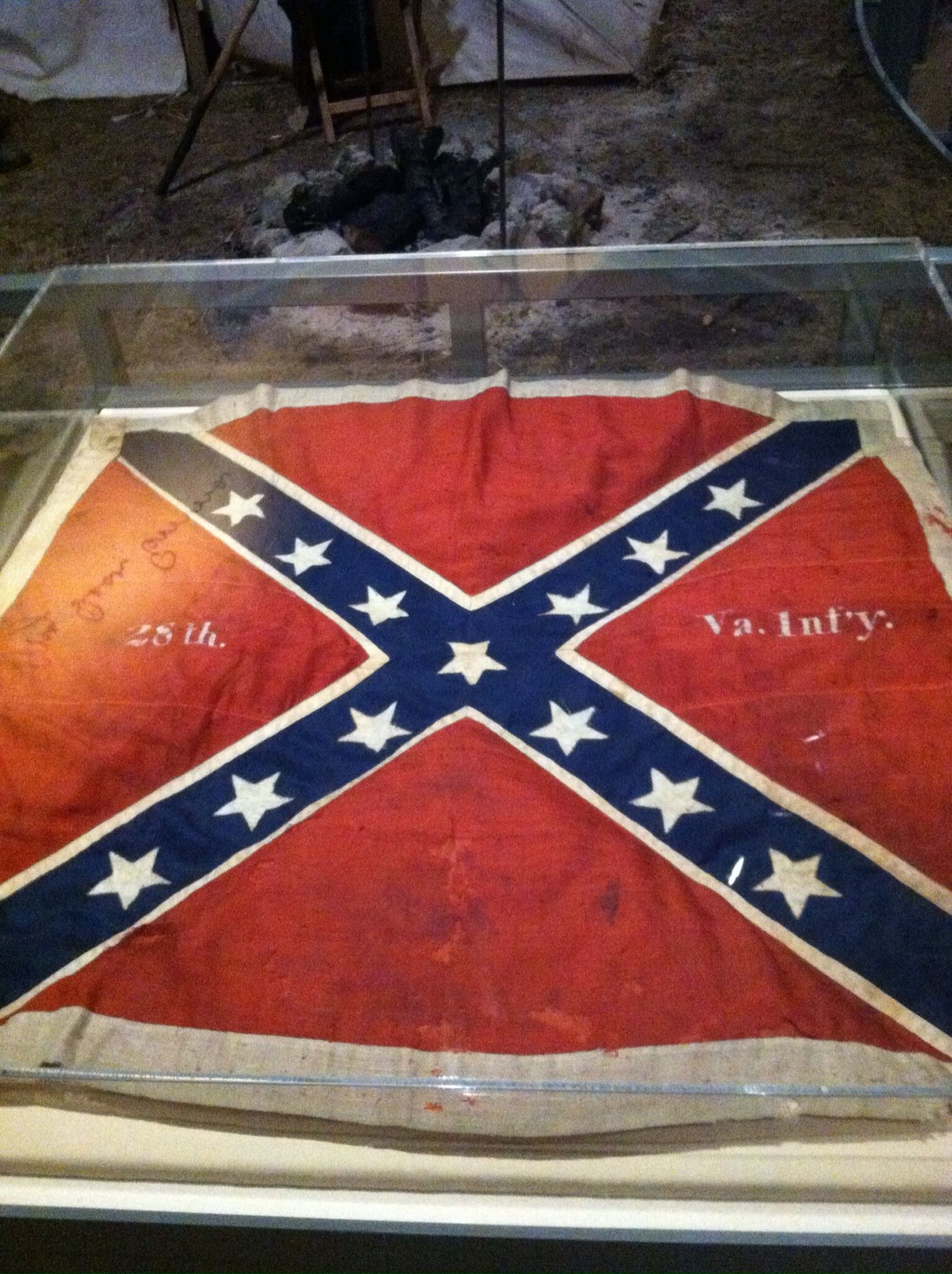 Battle Flag Of The 28th Virginia At The Mn Historical