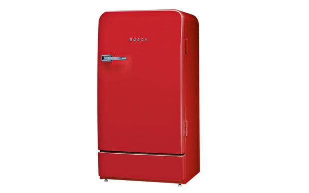 Retro Kühlschrank In Rot Von Bosch