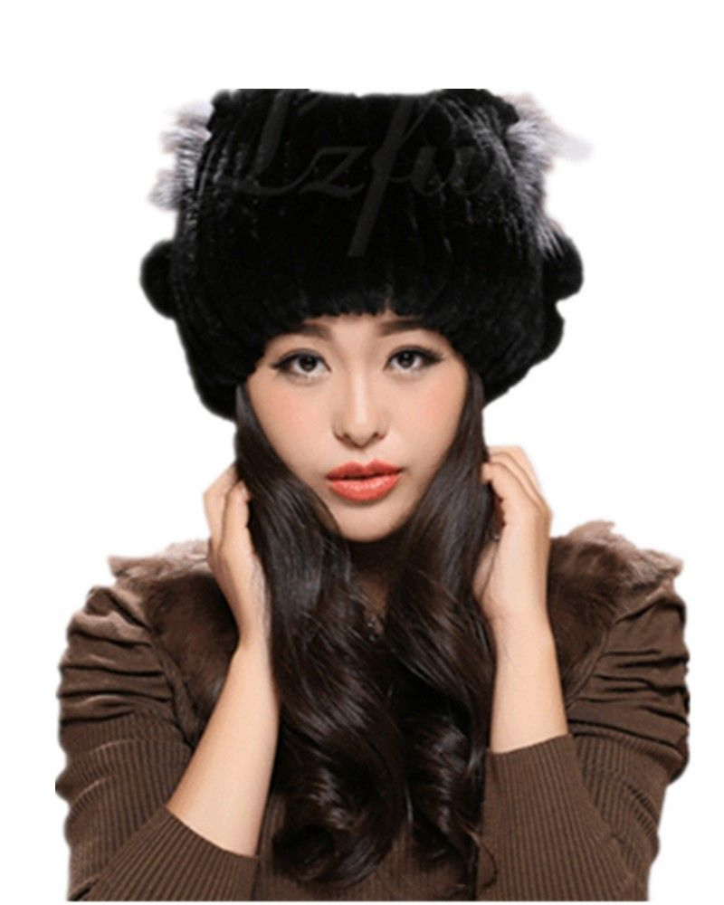 3befce52f9d63 H902-wholesale-natural rex rabbit fur black white gray brown winter  excellent hat for female