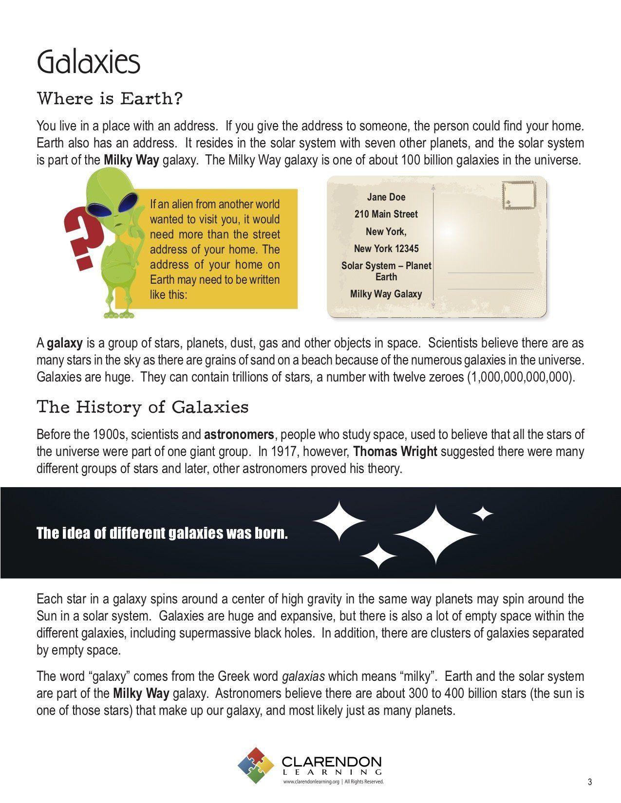 Stars And Galaxies Worksheet Galaxies In