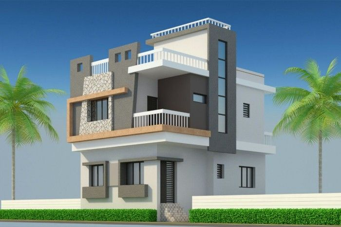 3d elevation | Small house elevation design, Duplex house ...