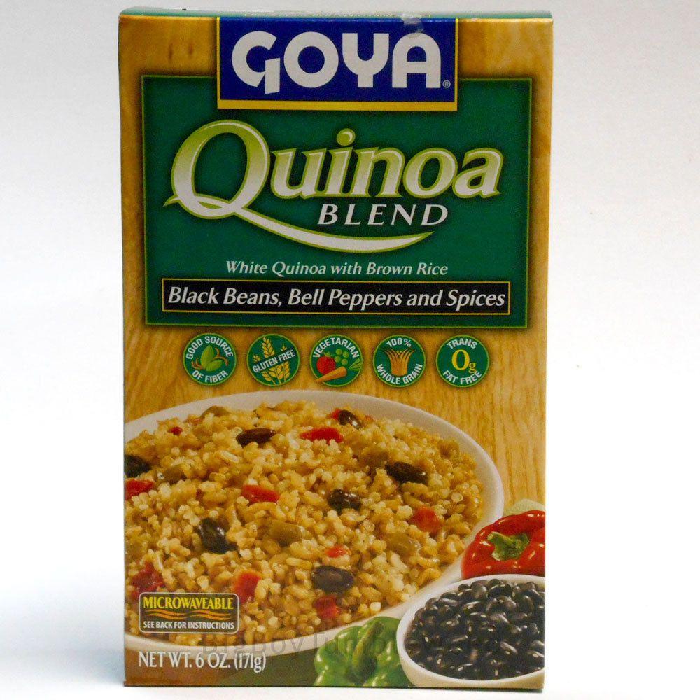 Goya Quinoa Brown Rice Blend Black Beans Bell Peppers 6 Oz Snack