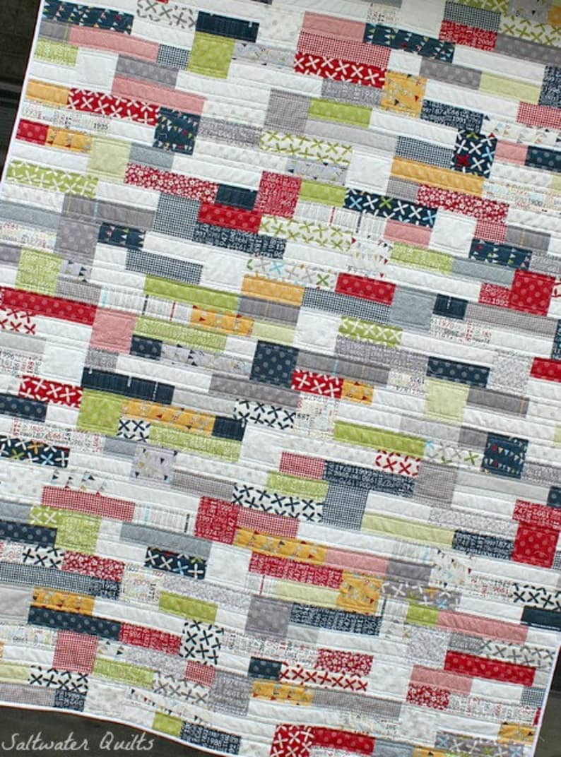Double Stack Quilt Pattern, Instant Download PDF P