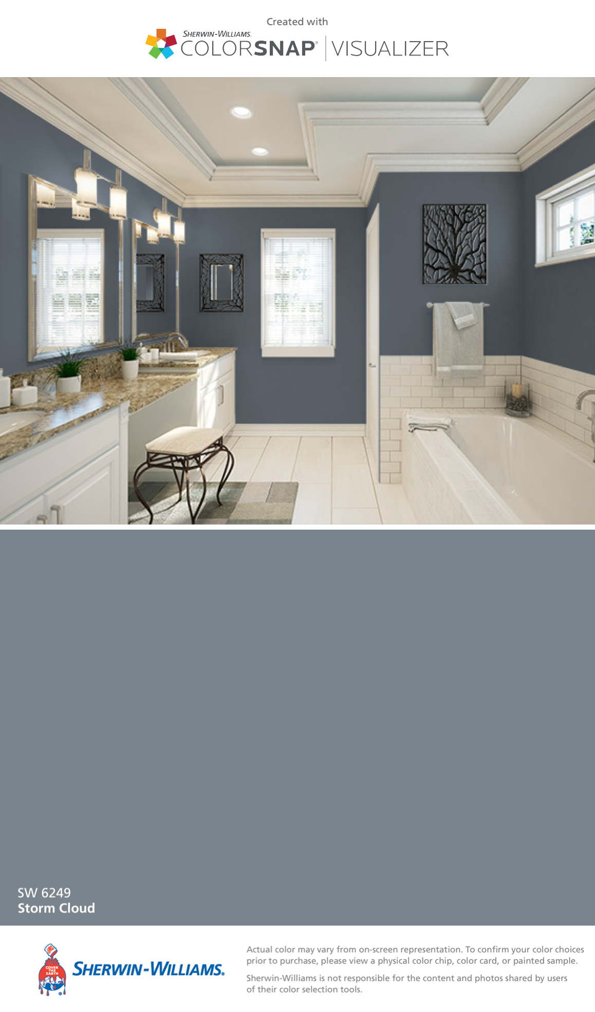 I Found This Color With Colorsnap Visualizer For Iphone By Sherwin Williams Storm Cloud Sw 6249