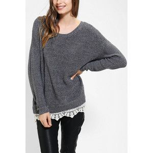Pins And Needles Lace-Trim Sweater   Fashion & Accessories   Pinterest