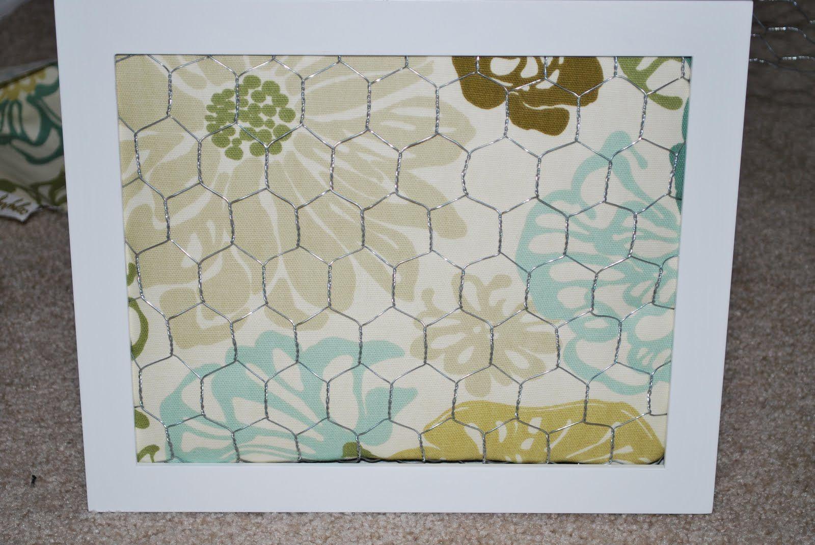 Framed Fabric Board Jewelry Organizer (she: Nichole | Chicken wire ...