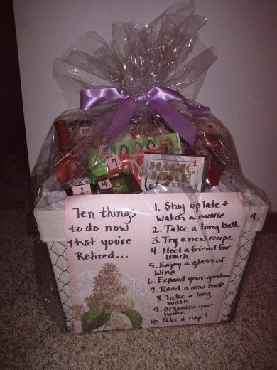 Retirement Gift Basket 10 Things To Do Now That Youre Retired Ideas For PartyRetirement