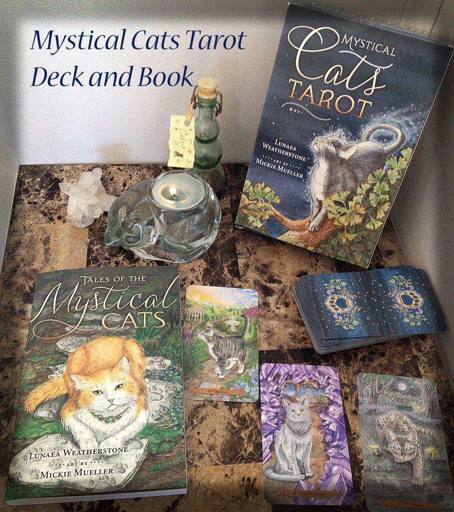 Mystical cats tarot deck and companion book tarot tarot