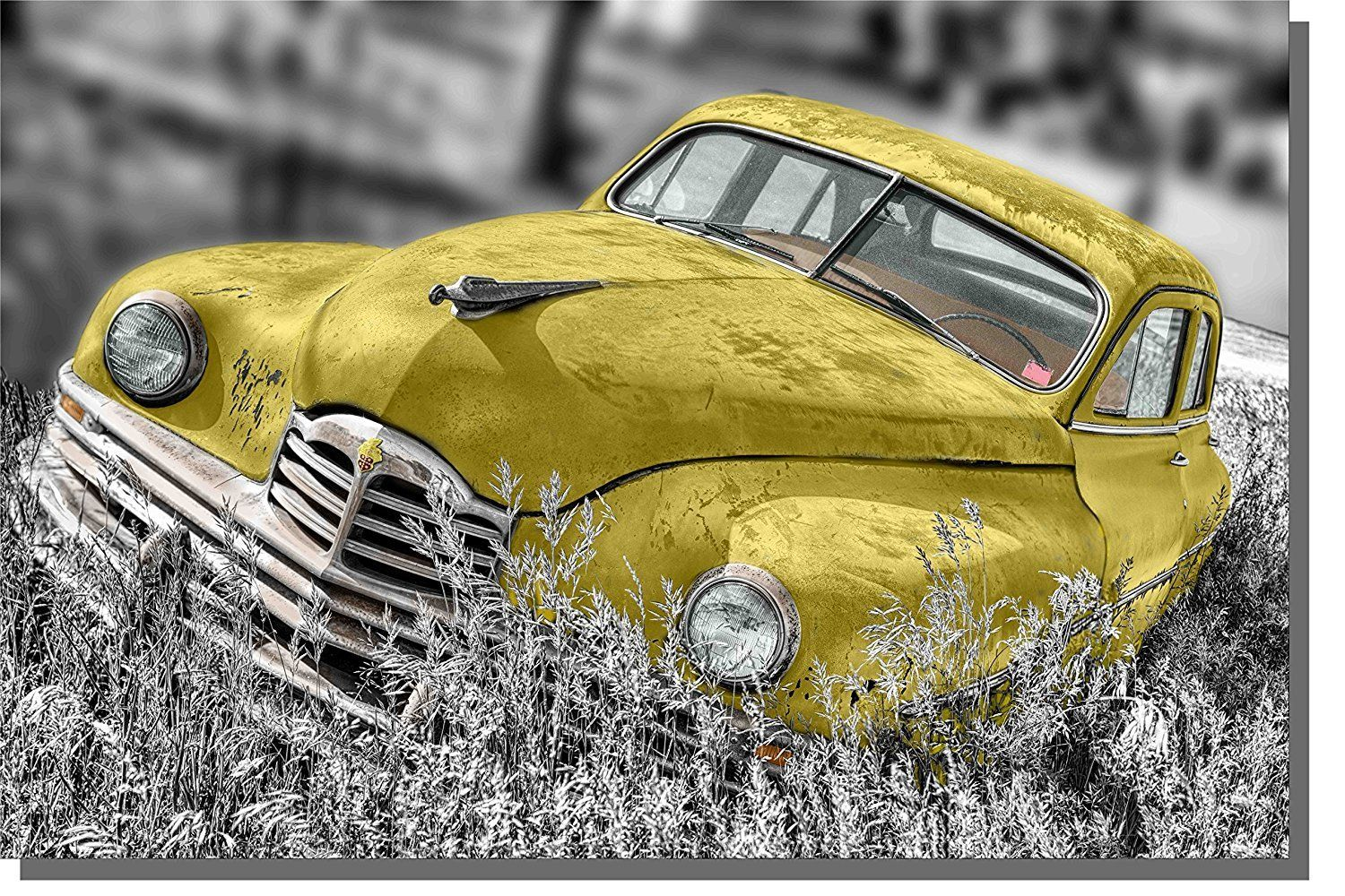 Old Timer Car, Antique Car Picture on Acrylic , Wall Art Decor Ready ...