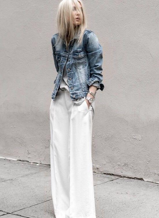 b60f5d5ad15 White n denim ❤ FIGTNY Dark Denim, Vita Byxor, Denim Fashion, Dammode