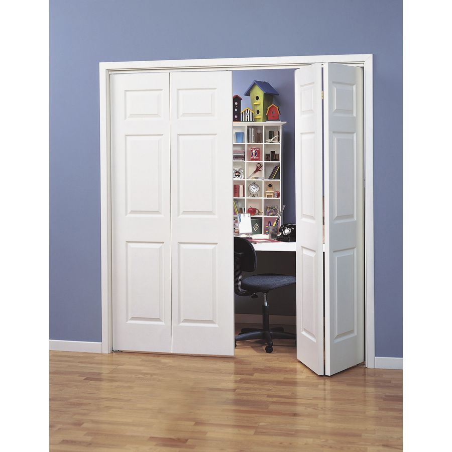 Shop reliabilt hollow core 6 panel bi fold closet interior door common 24 in x 80 in actual - Hollow core interior doors lowes ...