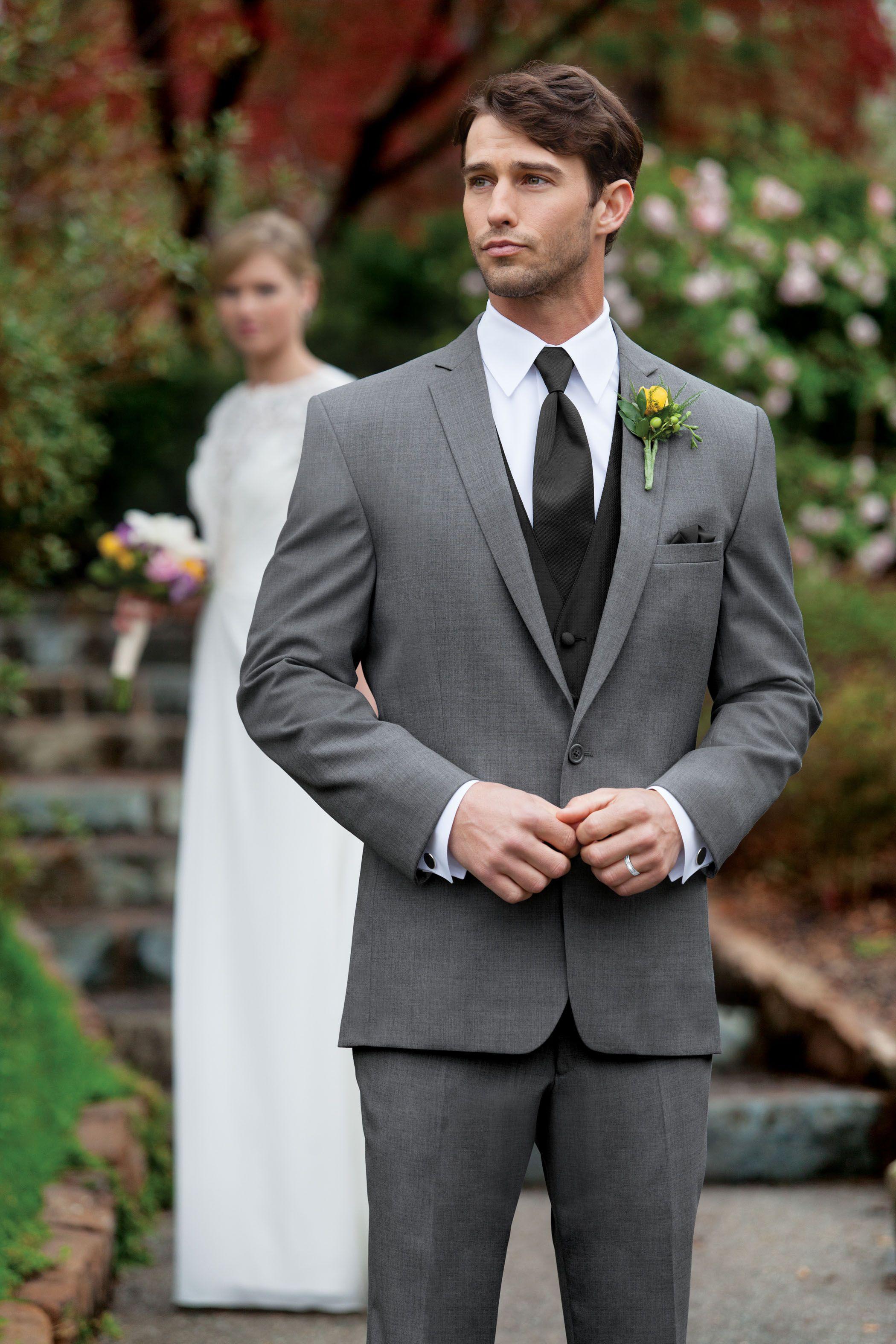 Dillon Tuxedo in Medium Grey Wedding suit styles