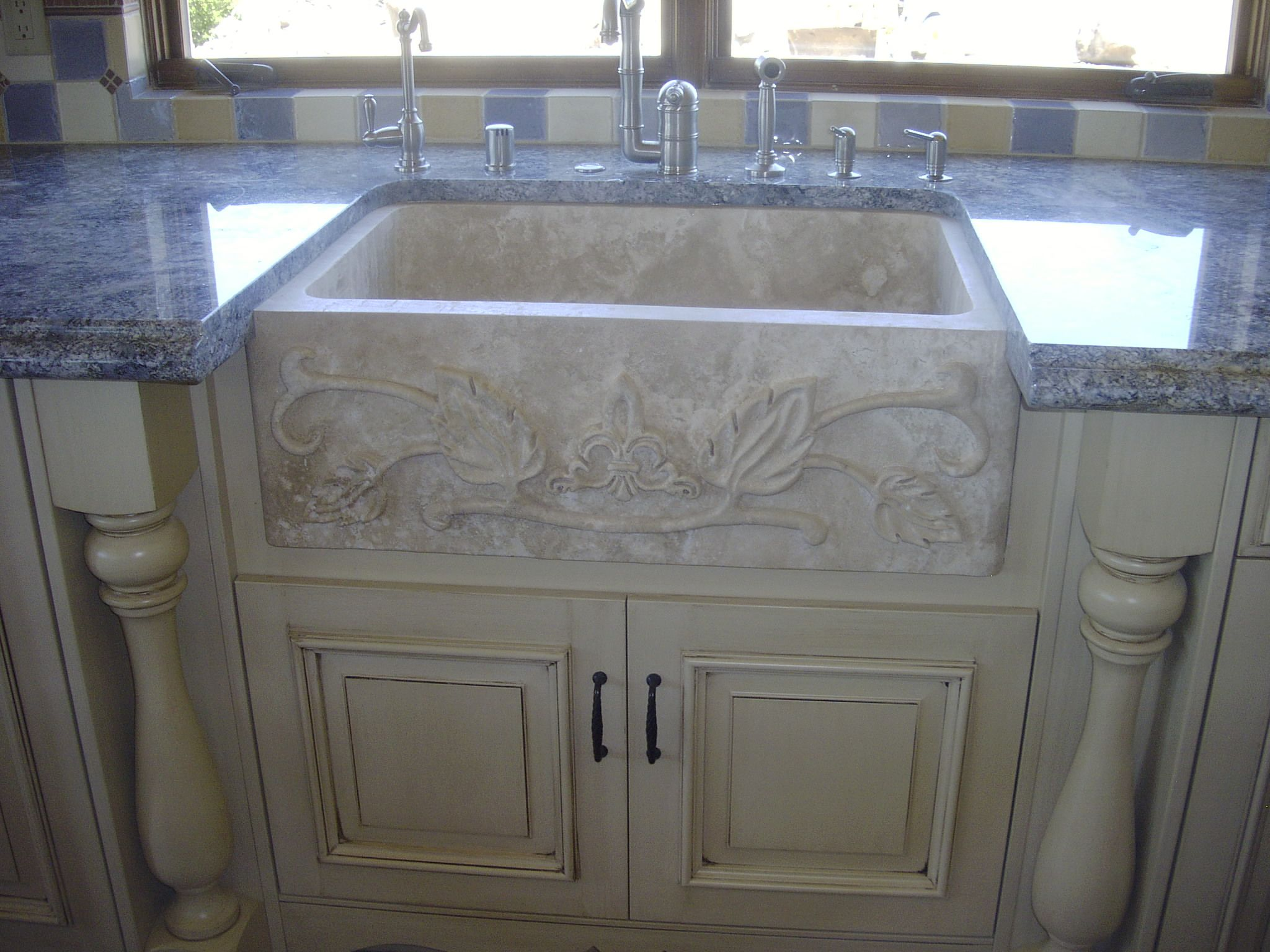 Travertine sinks sale 28 images round polished for Antique stone sinks for sale