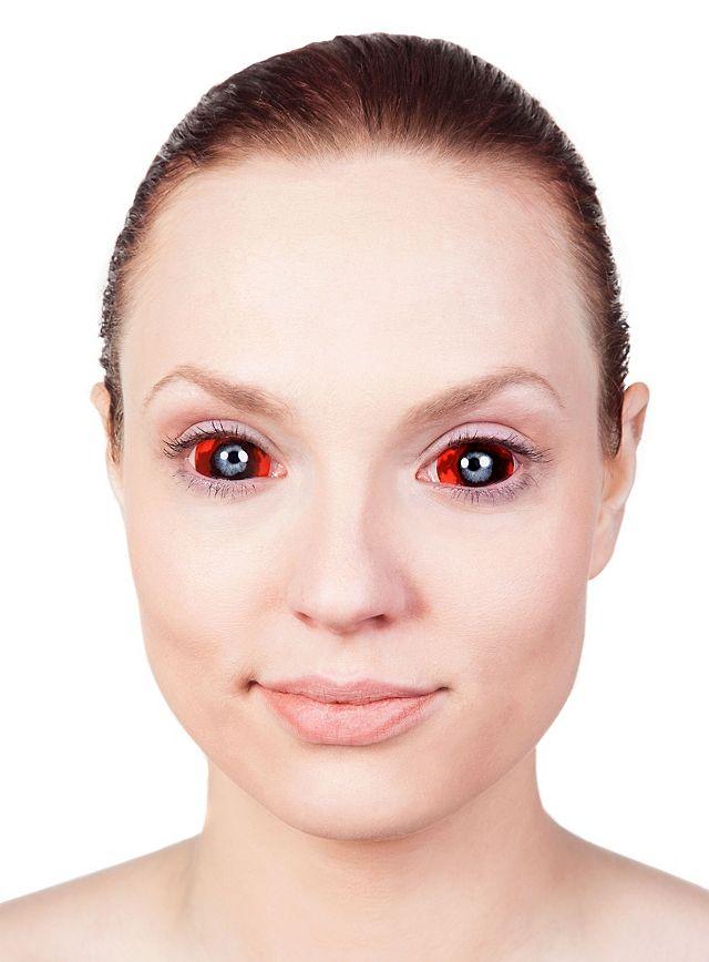 как сделать эффект белых глаз на фото позиционируется