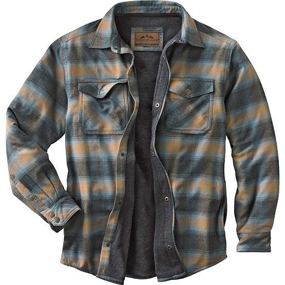 Men S Archer Thermal Lined Flannel Shirt Jacket At