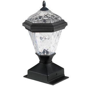 Westinghouse 2 Piece Adonia Paa Solar Post Light Black