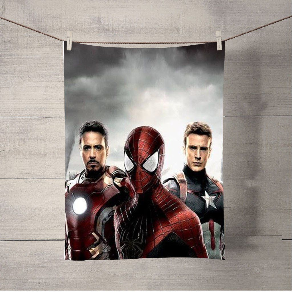 Spiderman Cartoon Marvel Bath Towel Beach Towels Spiderman